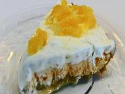 Orange Vanilla Ice Cream Pie