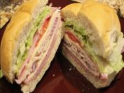 Ham And Turkey Club Sandwich