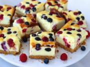 Mixed Berry Cheesecake Bars