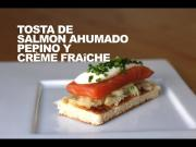 Tosta De Salmon Ahumado Con Pepino 1019877 By Dicestuqueno