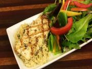 Grilled Halibut Basmati Brown Herb Rice Rp