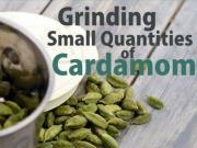 Grinding Small Quantities Of Cardamom By Tarla Dalal