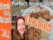 Perfect Brown Rice Instant Pot