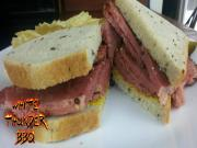 Montreal Smoked Meat Sandwich Recipe On The Weber With The Smokenator