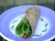 Hummus Goat Cheese Wrap