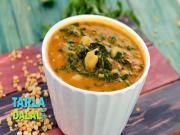 Mixed Dal With Spinach N Kabuli Chana