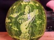 Melon Scratching Art