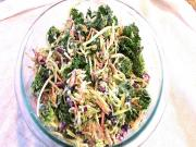 Fresh Kale And Broccoli Salad