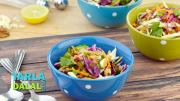 Garlicky Cabbage And Spinach Salad