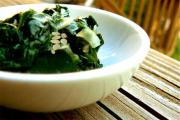 Greens With Toasted Sesame Seeds