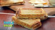 Three Layered Cheese Grilled Sandwich 1017427 By Tarladalal
