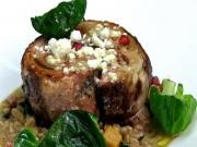 Veal Ballotine With Farro Risotto And Olive Oil