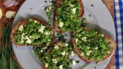 How To Make Peas And Feta On Toast 1005858 By Videojug