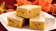Pumpkin Bars With Maple Icing