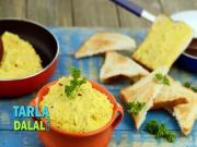 Cheesy Corn Dip With Toasted Triangles