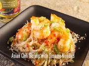 Asian Chili Shrimp With Sesame Noodles