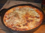 Deep Dish Meat Lovers Skillet Pizza