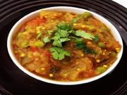 Punjabi Style Eggplant Tomato Curry