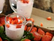 Strawberry Mousse By Tarla Dalal