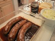 How To Braise Haskapa Malbec Bratwurst