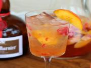 Peach Raspberry Rose Sangria