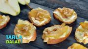 Pear And Brie Bruschetta 1018312 By Tarladalal
