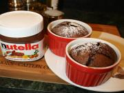 Individual Molten Chocolate Nutella Cakes