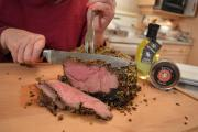 How To Cook Napa Valley Pistachio Crusted Sirloin Tip Roast Of Beef 1015385 By Cookingwithkimberly