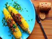 Grilled Corn On The Cob With Chipotle Cilantro Compound Butter Stevescooking