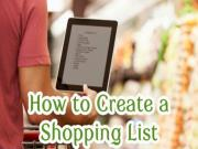 Shopping List Basics