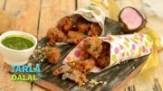 Kand Aloo Pakoda Faraal Recipe 1018993 By Tarladalal