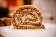 Pumpkin Pecan Cake Roll