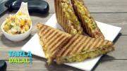 Cheesy Corn Grilled Sandwich 1018834 By Tarladalal