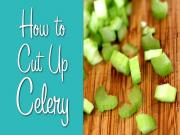 How To Cut Celery