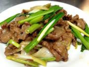 Delicous Chinese Stir Fry Beef With Scallions