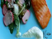 Salmon With Salad And Mayo