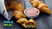 Cheese And Spring Onion Samosa 1019620 By Tarladalal