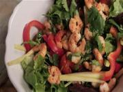 Spicy Chilli Prawn Salad With Lime And Cashew Nuts