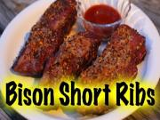 Bison Short Ribs On The Grill Dome