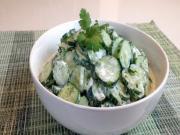 Creamy Cilantro Lime Cucumber Salad