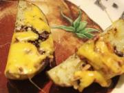 Onion Potato Wedges With Cheddar Cheese