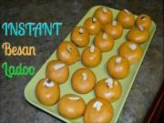 Instant Besan Ladoo Microwave Recipe