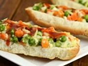 Mixed Vegetable And Paneer Open Hot Dog Roll By Tarla Dalal