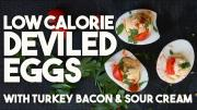 Low Cal Deviled Eggs With Turkey Bacon And Sour Cream 1019903 By Kravingsblog
