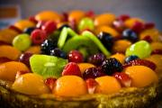 Cinnamon Fruit Tart With Sour Cream Filling