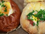 Prosciutto Spinach And Gruyere Egg Baskets