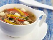 Noodle Sprouts And Capsicum Soup Zero Oil And Weight Loss Recipe By Tarla Dalal