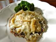 Chicken Quinoa With Dijon Cream Sauce