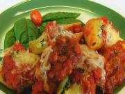 Bettys Cheese Spinach Stuffed Pasta Shells In Basil Tomato Sauce