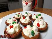 White Christmas Chocolate Tartlets